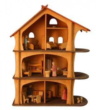 goldrabe puppenhaus pupenstube von holzkram holzspielzeug. Black Bedroom Furniture Sets. Home Design Ideas