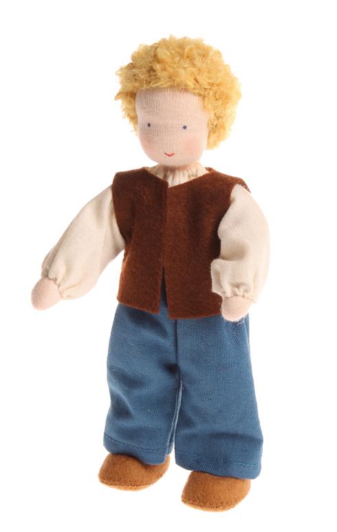 Puppenhaus Holz 30 Cm Puppen ~   puppen » Puppenhaus Puppen Mann blond neu von Grimms handgearbeitet