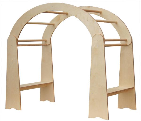 Klettergerüst Kinderzimmer goldrabe zwei spielständer mit dach aus birke
